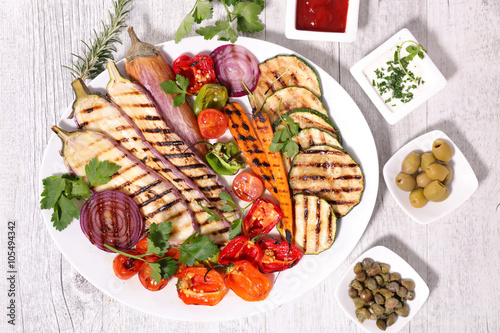Fototapeta grilled vegetables
