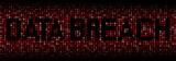 Data Breach text on hex code illustration - 105500792