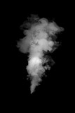 close up of steam smoke on black background - 105502913