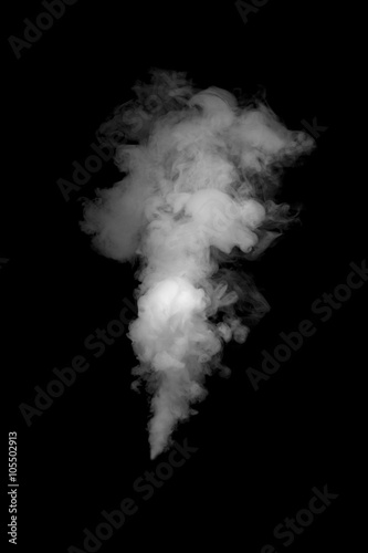 close up of steam smoke on black background Poster