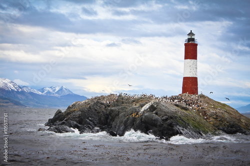 A lighthouse in Paradise in Argentina - Ushuaia. - 105511761