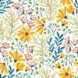 Spring floral pattern - 105514933