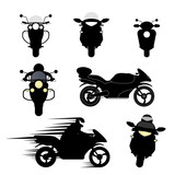 Fototapety silhouettes of motorcycles