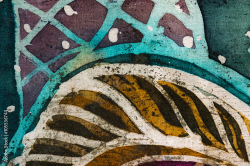 Abstraction, hot batik, background texture, handmade on silk, abstract surrealism art