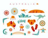 Fototapety Australia icon set - Vector illustration