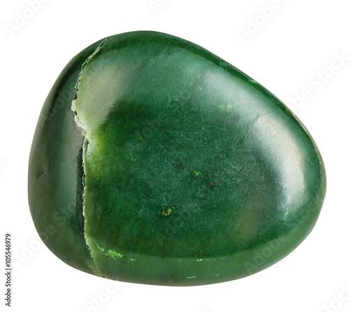 Tuinposter Edelsteen tumbled green Nephrite (jade) mineral gemstone