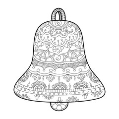 Bell coloring book for adults vector