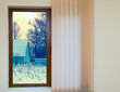 view from the window with blinds - 105554390