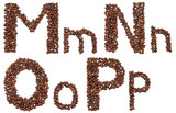 Fototapety alphabet from coffee beans isolated
