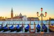 Quadro Gondolas and San Giorgio Maggiore island, Venice, Italy
