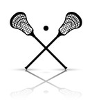 Fototapety Crossed lacrosse stick and ball with reflection. Vector illustra