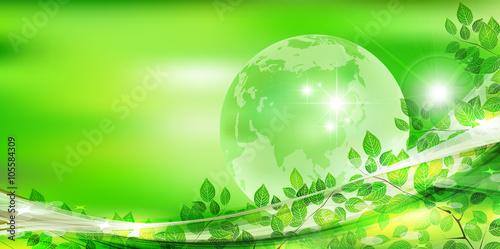 Fotobehang Lime groen 葉 地球 新緑 背景