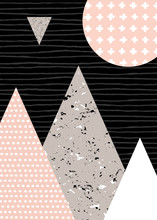 Paisaje abstracto geométrico