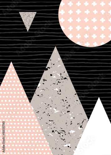 Abstract Geometric Landscape - 105587161