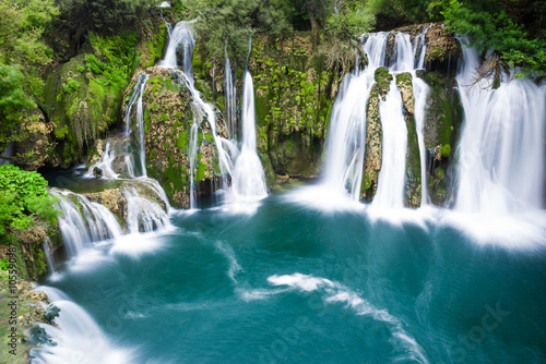 Waterfalls of Martin Brod on Una national park, Bosnia and Herzegovina Poster