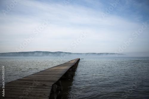 Poster Wooden Bridge to the lake