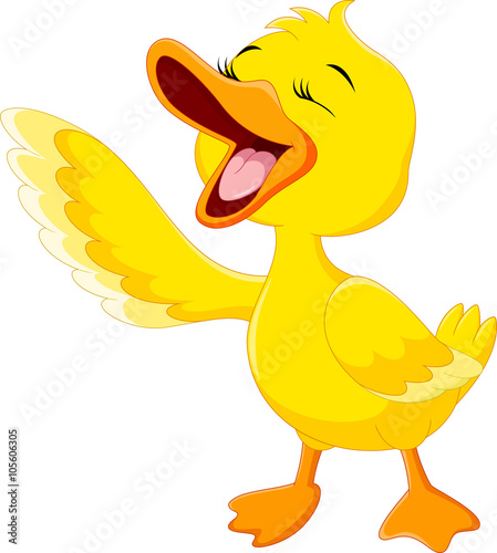 b0ab434d4 Cute duck laugh cartoon isolated on white background | Buy Photos ...
