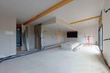 construction maison - pose de plaques de platre # czm  - 105607302