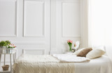 Fototapety bedroom in soft light colors