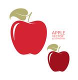 Fototapety Red  apple. Isolated fruit on white background