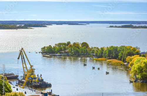 Mouth Vuoksa. View from Olaf's Tower in Vyborg. Russia Poster