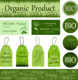 Органический, натуральный продукт. Эко. Био. Набор элементов, бланков, карточек.