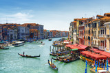 Fototapety Beautiful view of the Grand Canal from the Rialto Bridge. Venice