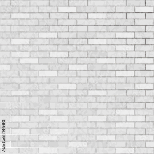 Fototapeta Seamless background white brick