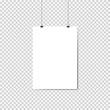 sheet hanging on isolated background