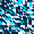 Triangle geometric shapes pattern. black and blue