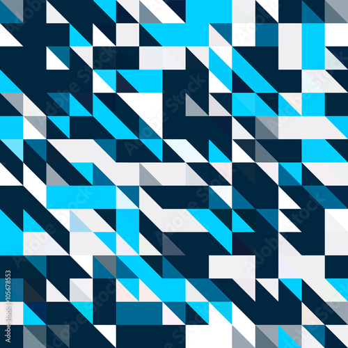 fototapeta na ścianę Triangle geometric shapes pattern. black and blue