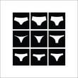 Women's panties. Lingerie. tanga. Thong. briefs