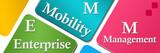 EMM - Enterprise Mobility Management Colorful Horizontal