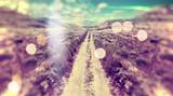 Paisaje abstracto,camino por los campos.
