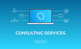 Consulting Services Laptop & Icons