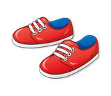 Fototapety Red sneakers.