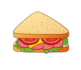Triangle salami sandwich.