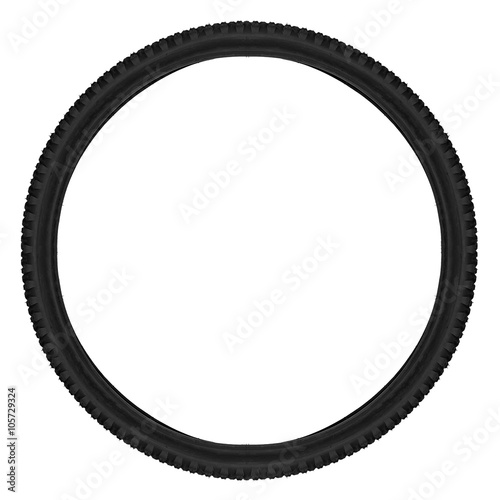 Poster mountainbike bicycle tyre isolated on white background