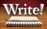Write Author Reporter Word Notepad Pen Record Information Commun