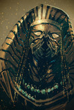 Pharaoh of Egypt,sci-fi concept,illustration painting