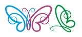 Logo of color butterfly.