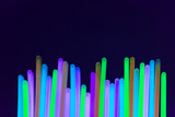 Fototapety colored lights fluorescent neon