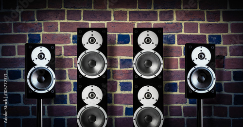 Black music speakers