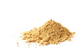 Pile of dry ginger powder isolated - 105789139