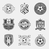 Fototapety vector set of football (soccer) crests and logos