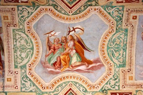 Zdjęcia Rom, San Giovanni in Laterano, Deckenfresken in der Loggia