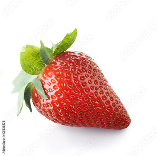 strawberries isolate on white