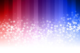 Blue and Red Star Background - 105853362