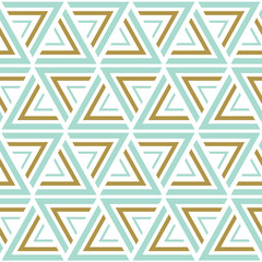 Seamless vector patterns. Blue and gold seamless background. Vector illustration