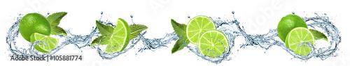 Limonki oblane wodą